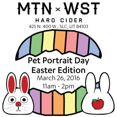 Easter Pet Portrait Day at Mountain West Hard Cider