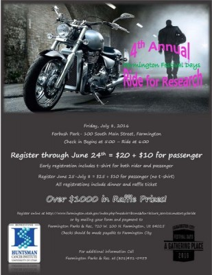 Farmington Festival Days Motorcycle Ride for Cancer Research
