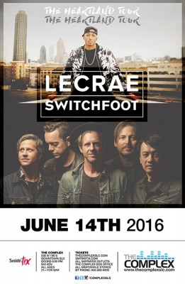 Lecrae & Switchfoot: The Heartland Tour @ The Complex