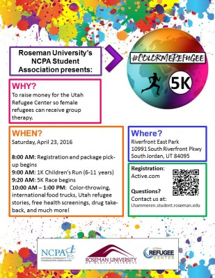 #ColorMeRefugee 5K and Blood Drive/Health Fair