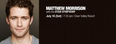Matthew Morrison with the Utah Symphony
