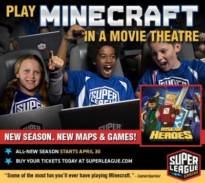 Play Minecraft in a Movie Theatre