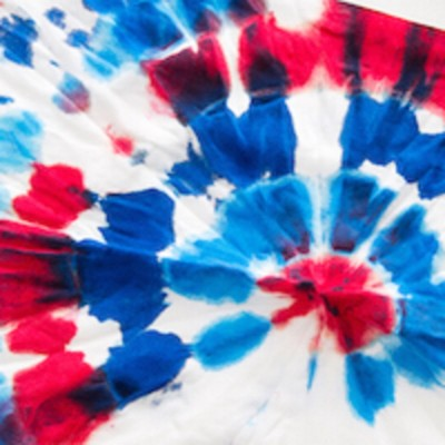 Red, White and Blue Tie Dye for Tots
