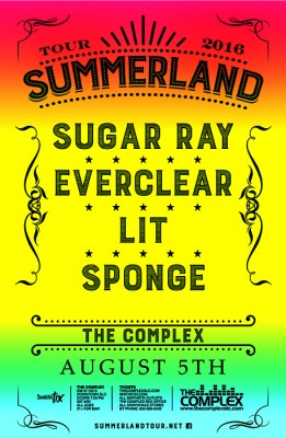 Summerland Tour 2016 Staring Sugar Ray, Everclear, Lit and Sponge