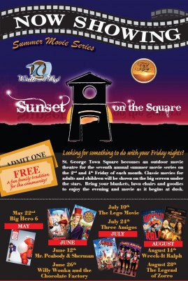 Sunset on the Square Summer Movie Series
