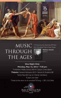 Timpanogos Symphony Orchestra presents Music Through the Ages