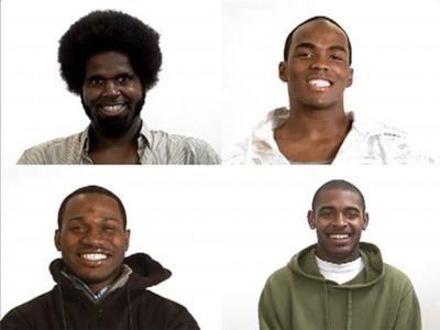 e.g.: Kehinde Wiley, Smile