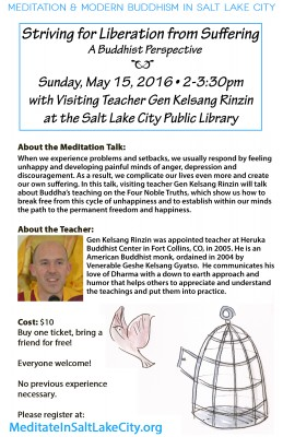 Striving for Liberation from Suffering with Gen Kelsang Rinzin - A Buddhist Perspective