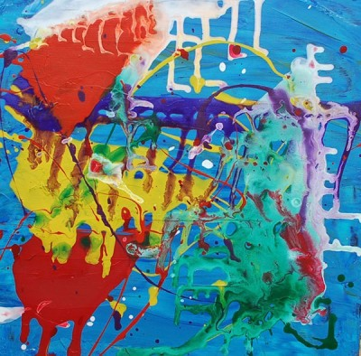Abstract Painting for Kids