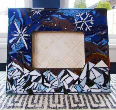 Glass Mosaic Picture Frames for Teens