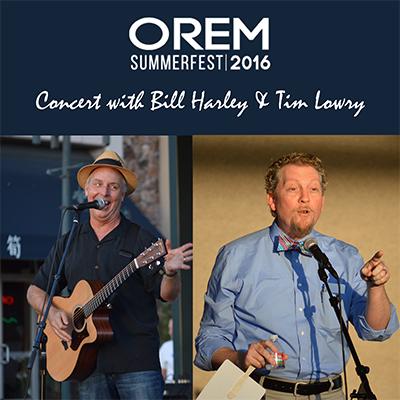 Orem Summerfest: An Evening of Stories with Bill H...