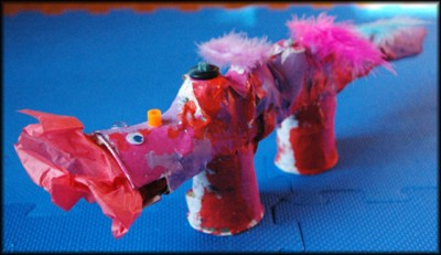 Paper Mache Animal Heads for Kids