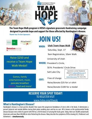 Utah Team Hope Walk