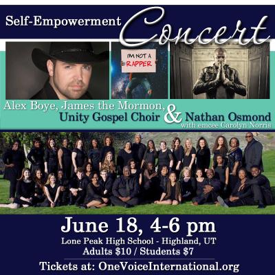 Concert - Alex Boye, Nathan Osmond, James the Mormon & Unity Gospel Choir