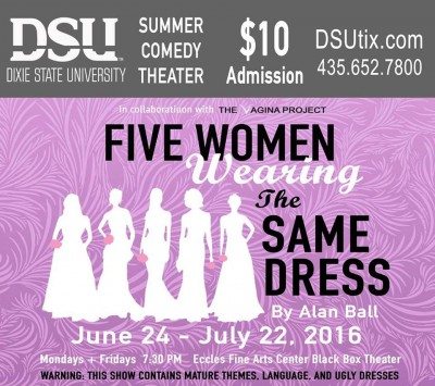 DSU Summer Comedy Theater: Five Women Wearing the Same Dress
