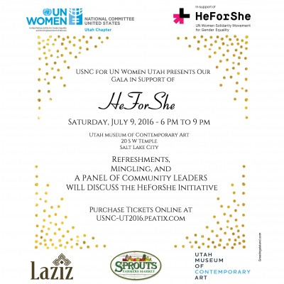 Gala in support of HeForShe presented by the USNC for UN Women Utah