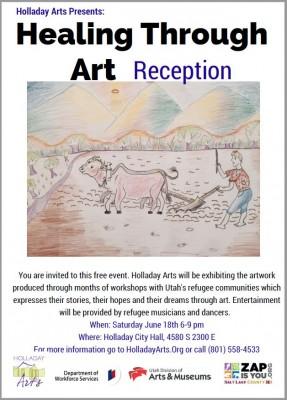 Healing Through Art Refugee Arts Show, Music and Dance.