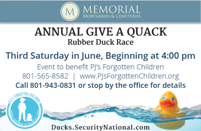 7th Annual Give A Quack Duck Race