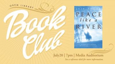 Orem Library Book Club: Peace Like a River