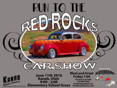 Run to the Red Rocks Car Show