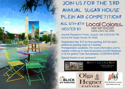 3rd Annual Sugar House Plein Air Painting Competit...