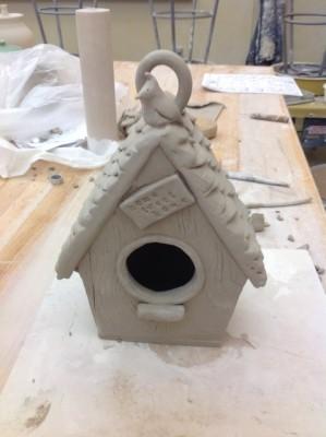 Clay Bird Houses