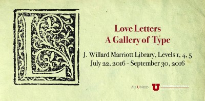 Love Letters: A Gallery of Type
