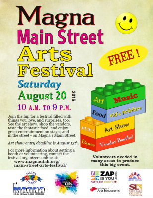magna main street arts festival presented by arts council of magna