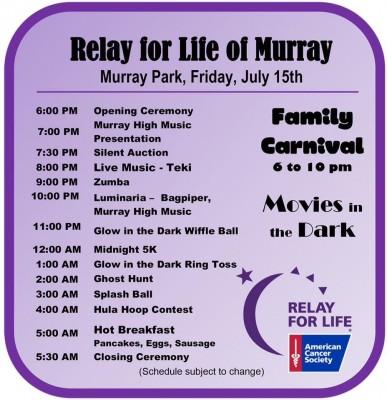 RELAY FOR LIFE - MURRAY UTAH (Carnival, Free Reggae Concert, Food Trucks, and more)