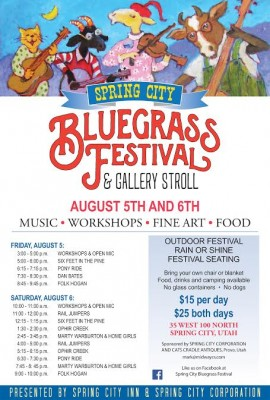 Spring City Bluegrass Festival and Gallery Stroll