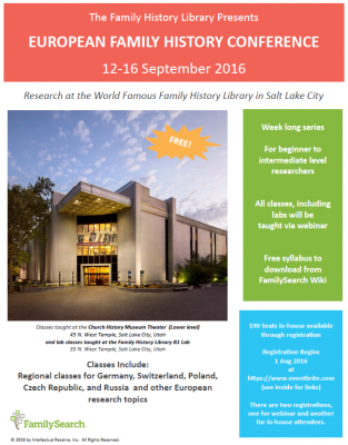 European Family History Conference