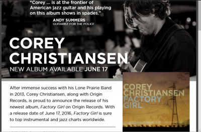 Jazz at the Station with Corey Christiansen Trio