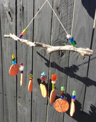 Leaf and Feather Windchimes for Tots