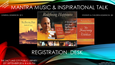 "Mantra Music & Inspirational Talk on ""REDEFINING HAPPINESS"""