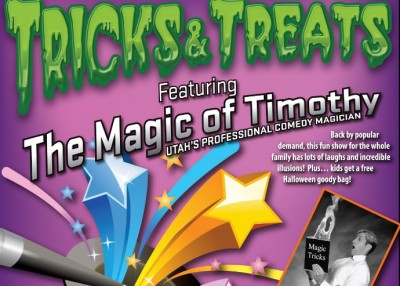 Tricks and Treats Featuring the Magic of Timothy