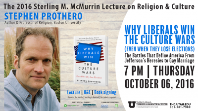 Why Liberals Win the Culture Wars | Lecture on Religion and Culture by Author Stephen Prothero