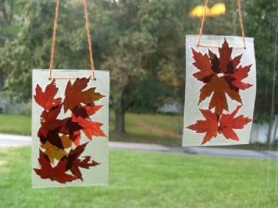 Autumn Leaf Suncatchers