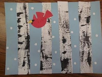 Birds in the Aspen Tree