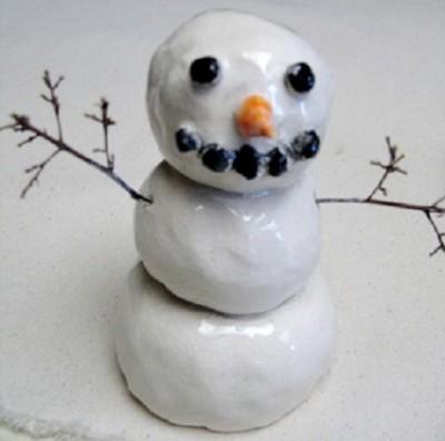 Ceramic Snowman Sculptures