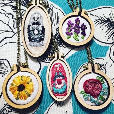 Stitch It Up: Embroidered Jewelry Workshop