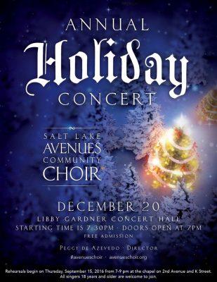 Salt Lake Avenues Community Choir Holiday Concert