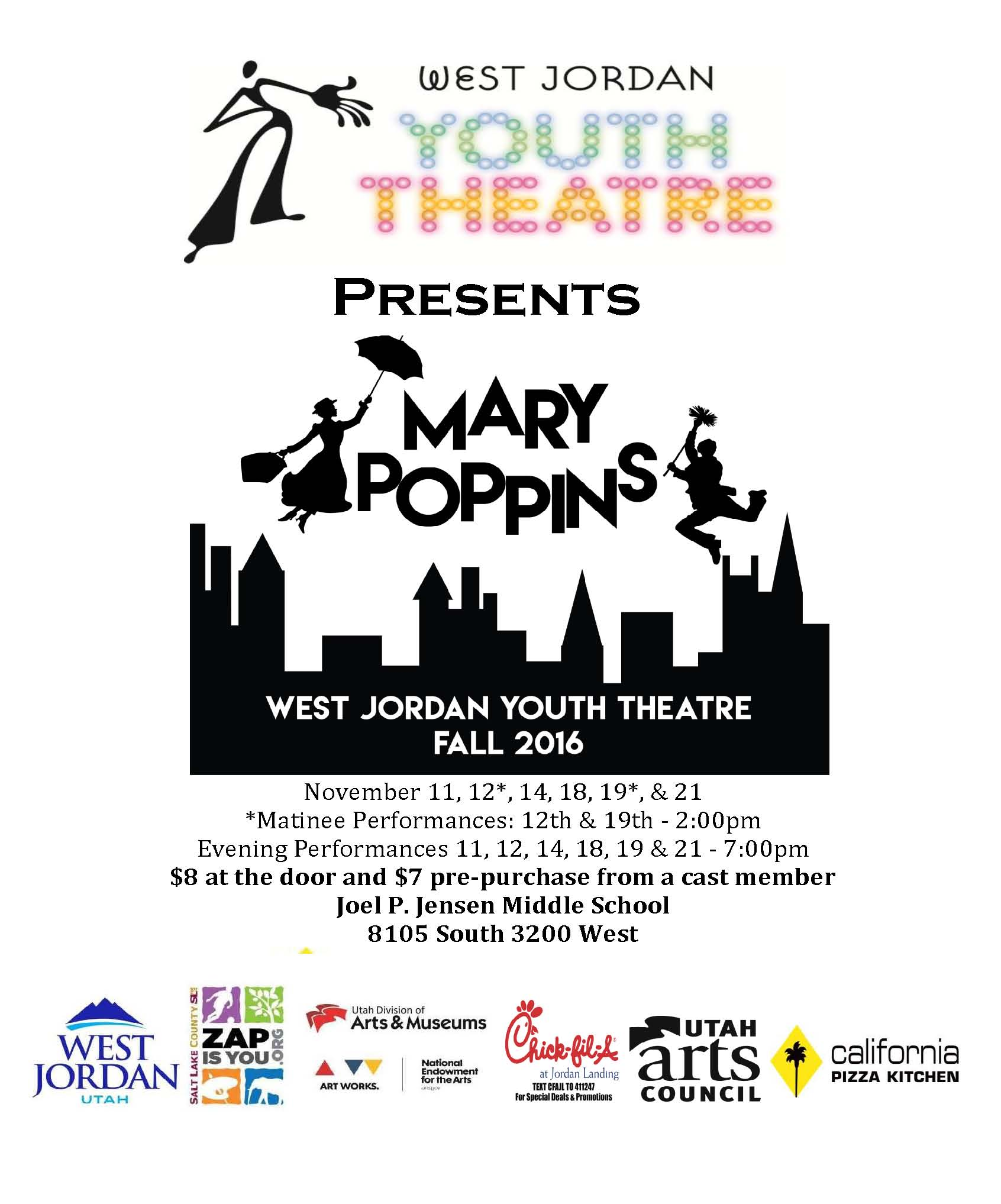 Mary Poppins presented by West Jordan Youth Theatre | NowPlayingUtah.com