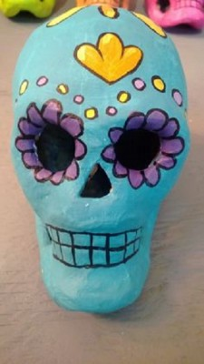 Clay Sugar Skull Sculptures