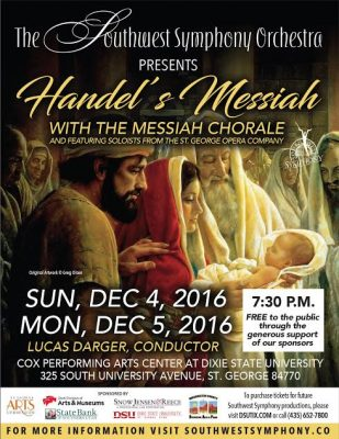 Handel's Messiah Presented by the Southwest Symphony Orchestra and Messiah Chorale