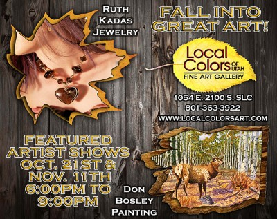 Local Colors Featured Artists Show with Jeweler Ruth Kadas and Painter Don Bosley
