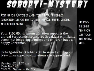 Soropti-Mystery Theatre and Brunch Fundraiser for Single Moms' Breakfast with Santa