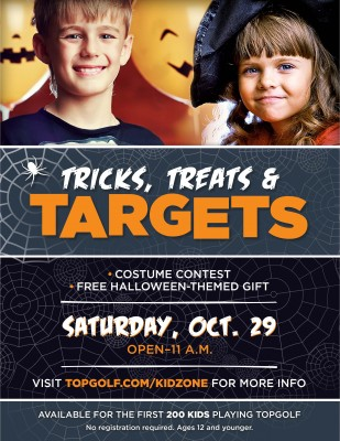 Topgolf's Annual KidZone Halloween Party- Tricks, Treats and Targets