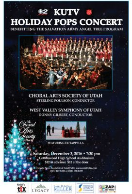 Octapella Headlining the KUTV Salvation Army Angel Tree Holiday Pops Concert