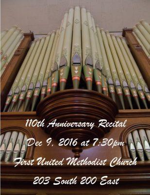 110th Anniversary Organ Recital