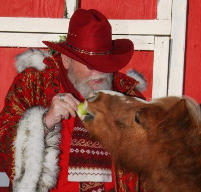 Cowboy Santa at The Farm at Gardner Village